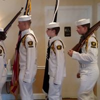 Sea cadets volunteered to come and do the colors for our life member Jim Bilotta receiving his Boston Cane as the oldest living member in Derry, NH.