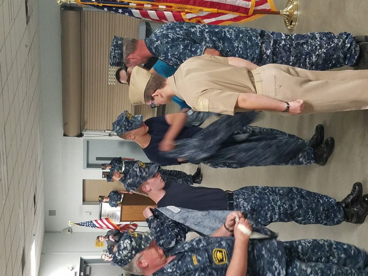 two Sea Cadets promoted to Chief Petty Officer.
