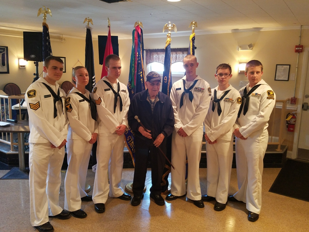 See Cadet Color Guard with Jim Bilotta and his Boston Cane