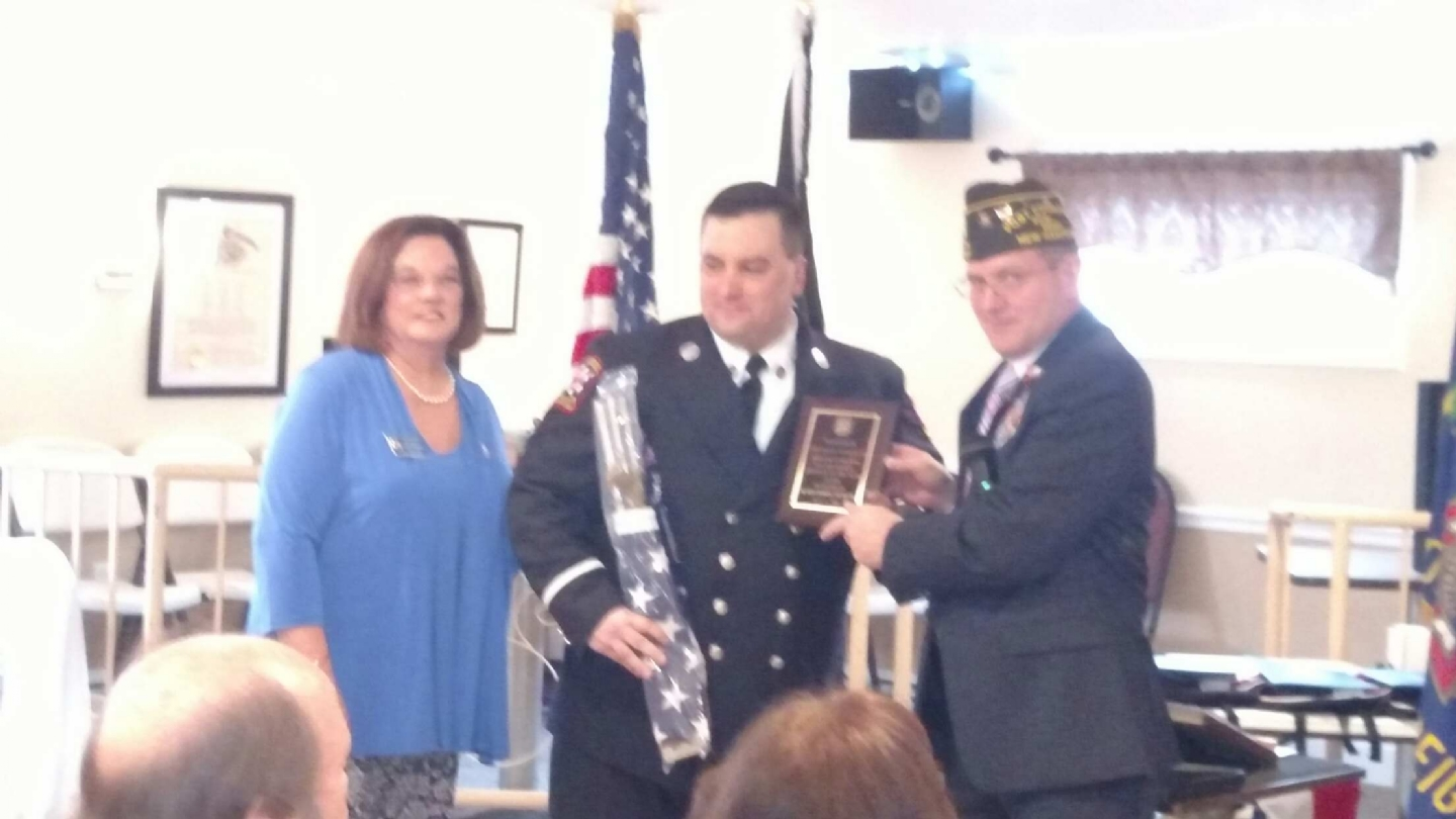 Charles Tinkham Derry Fire Dept Employee of the year